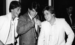 "Ah -- so young. A few members of the so-called ""Brat Pack"" -- Rob Lowe, Tom Cruise and Emilio Estevez -- photographed in 1982."