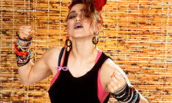Madonna, circa 1984 -- pushing the limits of bracelet wearing.