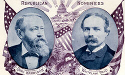 In the 1892 presidential election, Benjamin Harrison was defeated by Grover Cleveland, the former incumbent he had beaten in the 1888 race.