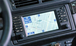 In-dash GPS systems offer large screens for viewing map data.