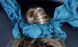 Scrunchies have evolved into bunny ears! See more fashion disaster pictures.