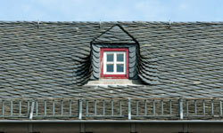 Slate tile has been used as a roofing material for centuries.