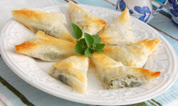 Spanakopita is a savory bite your guests will love.