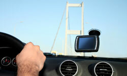 A GPS can be both a source of distraction and a potential projectile.