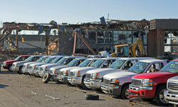If a dealership is damaged by a natural disaster, the owner may write off the damaged cars, which may earn salvage or rebuilt titles.