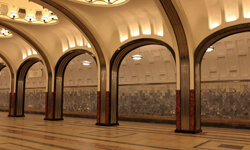 Many consider Moscow's metro stations attractive. Some feature artwork that shows the life of the Soviet people -- a reflection of the time the stations were built.