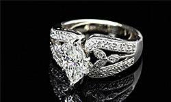 This split shank ring is heavy on the glitz!