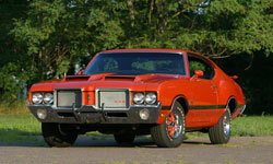 The Oldsmobile 442, such as this 1971 model, is a favorite among the muscle crowd.