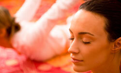 For the bride with energy to spare and a flexible group of friends, hire a yoga instructor to teach a private lesson.