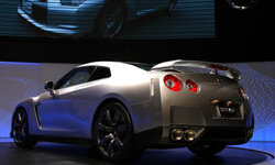 The Nissan GT-R is introduced during the 40th Tokyo Motor Show at Makuhari Messe, on Oct. 24, 2007 in Chiba Prefecture, Japan.