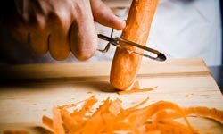 Peelers can save your fingers when shaving carrots.