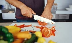 A chef's knife is ideal for slicing vegetables and so much more.