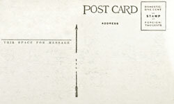 An old-fashioned postcard can be a template for your save-the-dates or formal wedding invites.