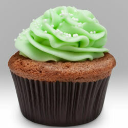 If you can't resist the pairing of mint and chocolate, this cupcake is for you.