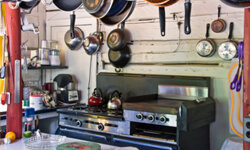 Poorly organized kitchens increase the amount of work needed to prepare a meal.