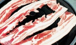 Bacon is laden with skin-harming sodium.