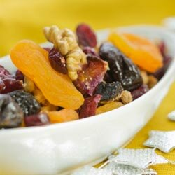 Experiment with any fruit-nut-combo you like to create a custom trail mix.