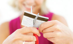 Cut up those credit cards, and you'll be less tempted by impulse buying and online shopping.