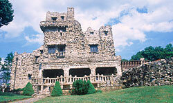 Gillette Castle was designed to resemble a medieval castle in Germany's Rhineland.