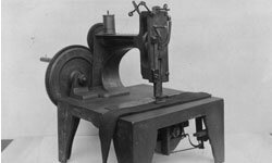 The sewing machine that built a castle -- a Singer from 1854.