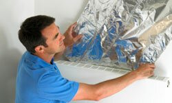 Reflective insulation can help control how the heat from the sun affects your home's temperature.