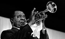 For a short and sweet number, you can't go wrong with Louis Armstrong!
