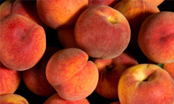 Peaches and other fruits with thin skins absorb high levels of pesticides.