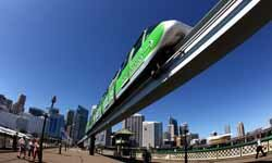A Sydney Monorail is seen at Darling Harbour on March 23, 2012 in Sydney, Australia.