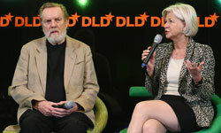 John and Doris Naisbitt speak at the Digital Life Design (DLD) conference at HVB Forum in Munich, Germany.