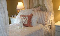 A canopy bed guarantees sweet dreams.