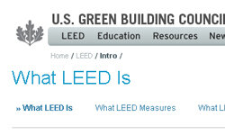 The LEED system is one of the world's leading energy rating systems.