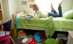 Keeping a messy room will encourage unwanted guests to linger.
