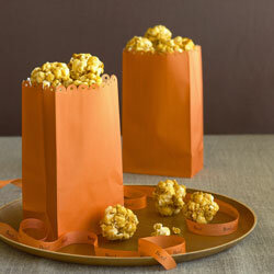 Popcorn balls are a Halloween classic.