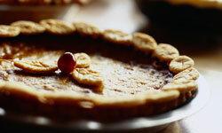Pumpkin pie is a favorite for Thanksgiving.