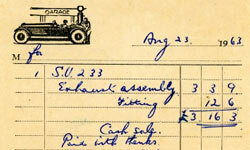 Handwritten receipts for repairs can sometimes be indicators of fraud.