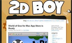 "For the latest scoop on ""World of Goo"" and other titles from indie game studio 2D Boy, be sure to check out the company's blog."