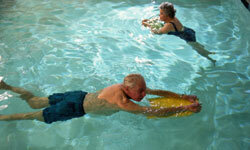 Swimming is a great low-impact activity that can be adjusted for each person's skill level.