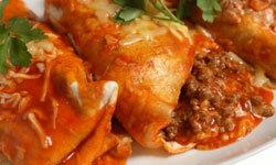Frozen enchiladas reheat perfectly.