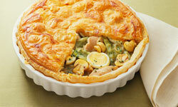 Put your leftovers into a pot pie.