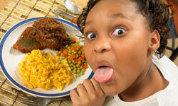 Mac and cheese -- a kid's favorite.