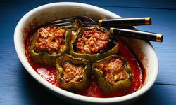 Use your spaghetti sauce for stuffed bell peppers.