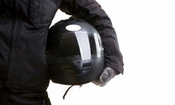 Never get on a motorcycle without a helmet -- it's the No. 1 piece of safety gear for bikers.