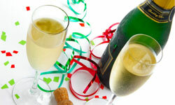 Champagne is the ultimate festive libation, but be sure to have some nonalcoholic beverages on hand for your guests, too.