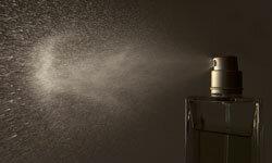 Perfume lasts longer in a spray bottle.
