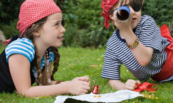 Draw up a treasure map for your little pirates to follow.