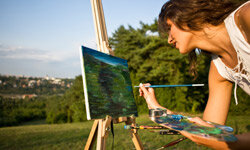 Landscape painting is a popular craft that allows artists to express their points of view about the scenery surrounding them.