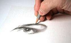 Sketching requires minimal supplies -- just a sharp eye and steady hand.