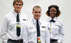 Hire professional security guards if you have people and property to protect.