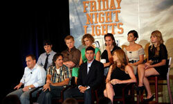 "The cast of ""Friday Night Lights"" gathered to speak at the NBC Universal 2008 Summer Television Critics Association press tour in California."