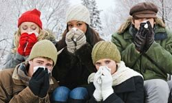 A runny nose pretty much goes hand in hand with cold temperatures.
